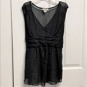 At Last Tank Top Size L Black / Shiny Thread